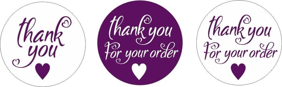 Younique Thankyou Stickers