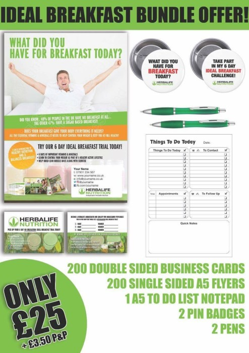 Herbalife a6 flyer for Herbalife templates