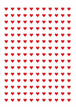 Valentus Loyalty Cards - 50 cards with 350 heart stickers