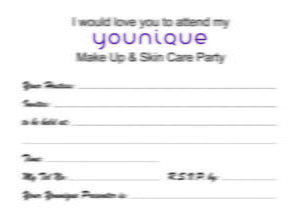Home Party Invitations x50