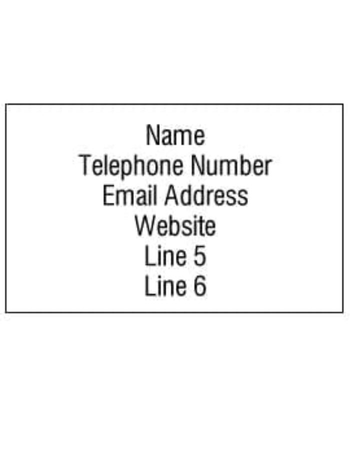 Personalised Info Stickers - your contact details on label size 62x29mm