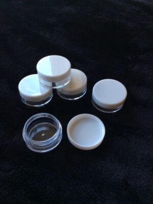 Sample Jars 5ml with white lids x10 in pack