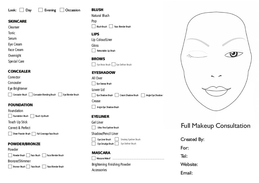 makeup-consultation-form-pad