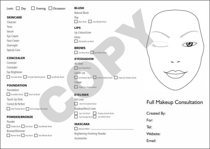 makeup consultation form15