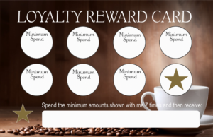 valentus loyalty card front