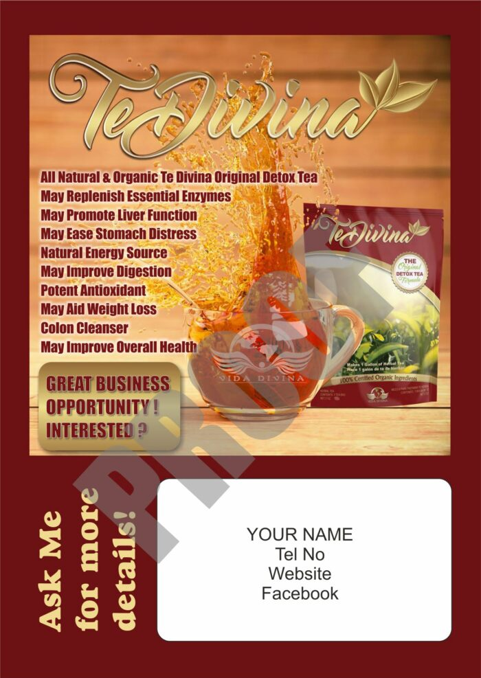 Detox Tea Blitz Cards (Personalised)