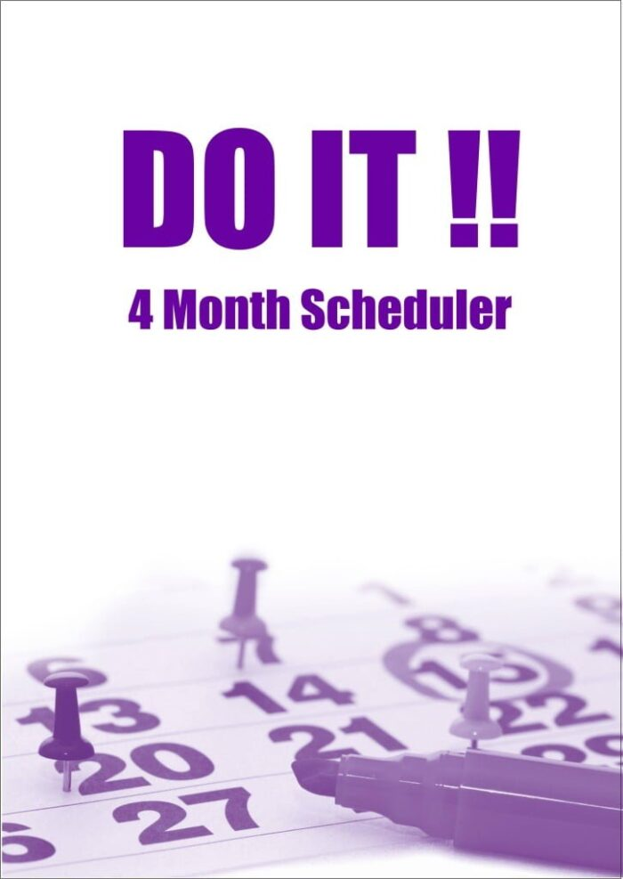 """""""DO IT!"""" 4 Month Scheduler Planner Book A4 size"""