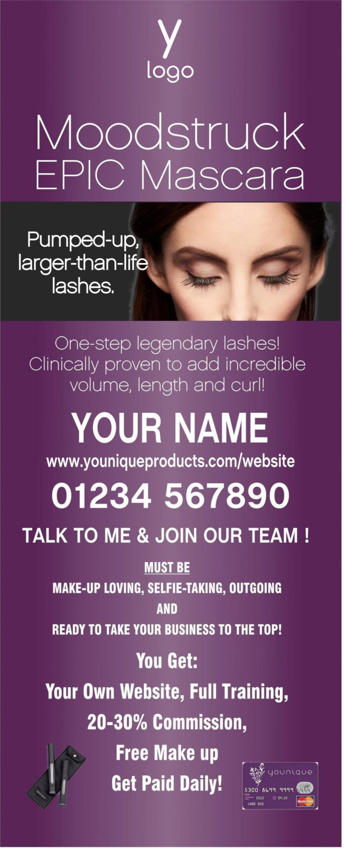 Younique Roller Banner (EPIC) personalised
