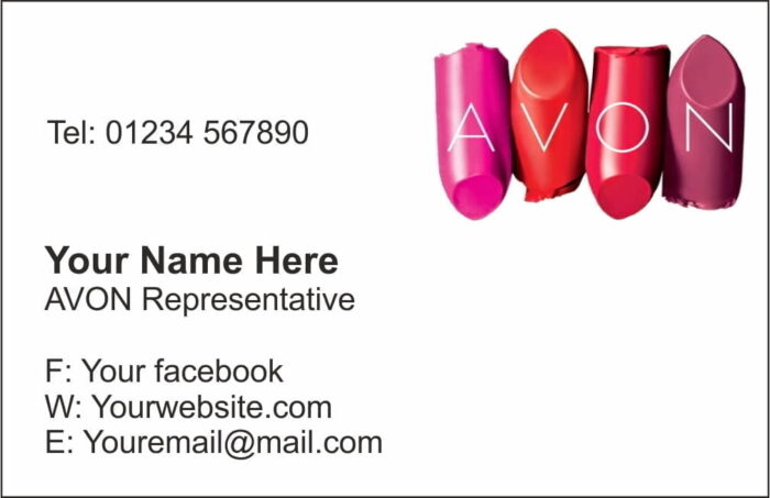 avon business cards style1 - Avon Business Cards