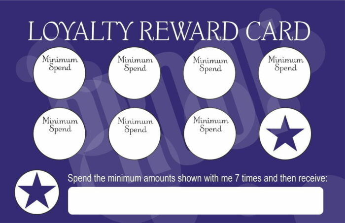 Actilabs Loyalty Cards pack - 50 cards and 350 heart stickers