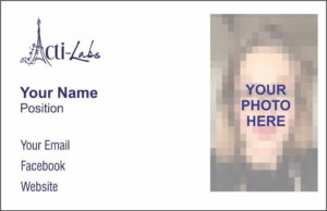Actilabs Business Cards with your photo added - Double sided
