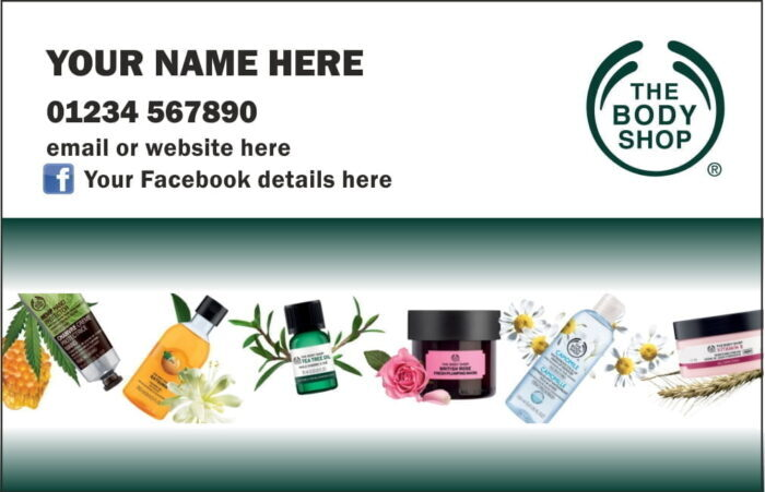 Body Shop At Home Business Cards - Single sided (NEW)