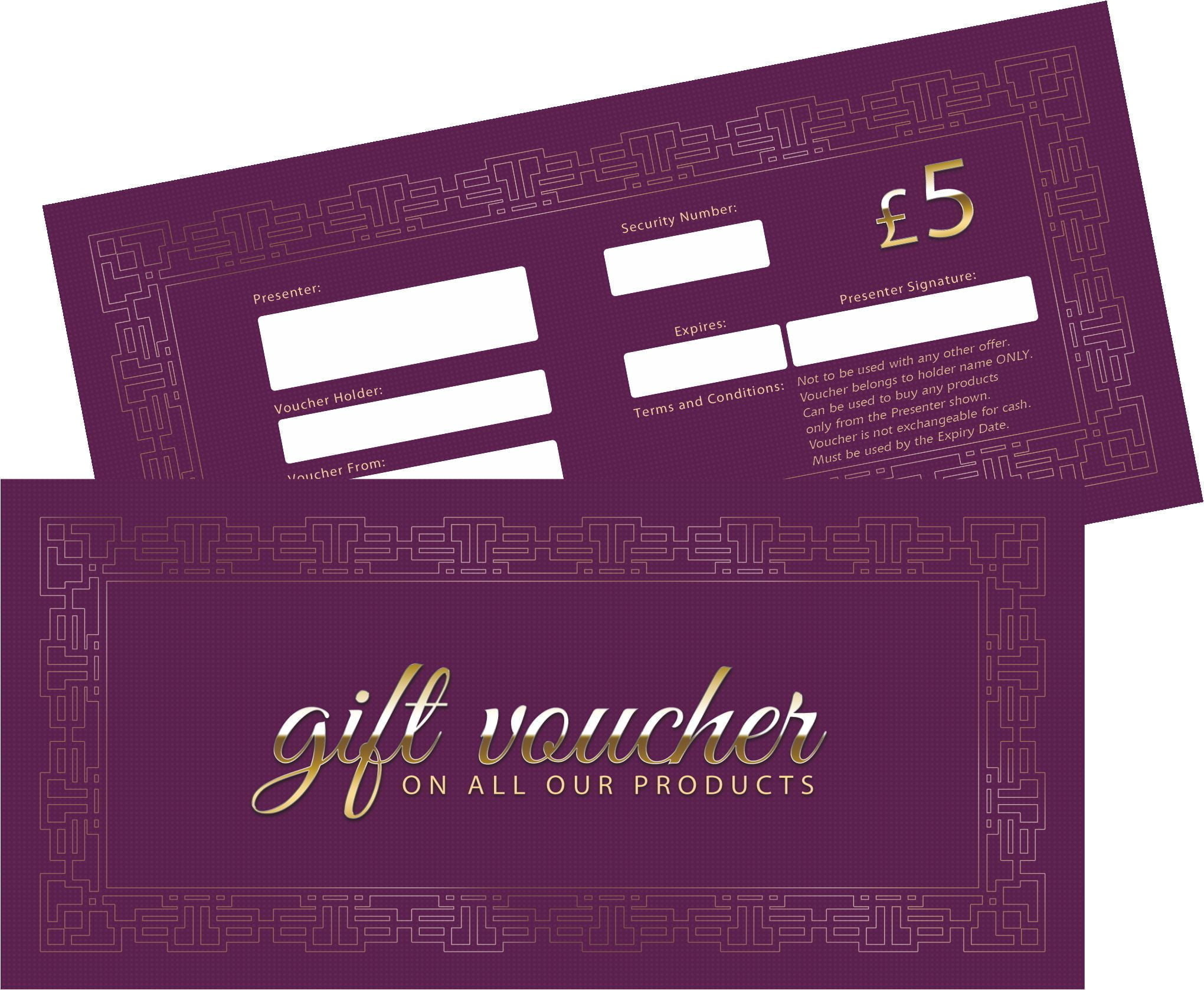 NEW VOUCHERS PURPLE 5 DENOM