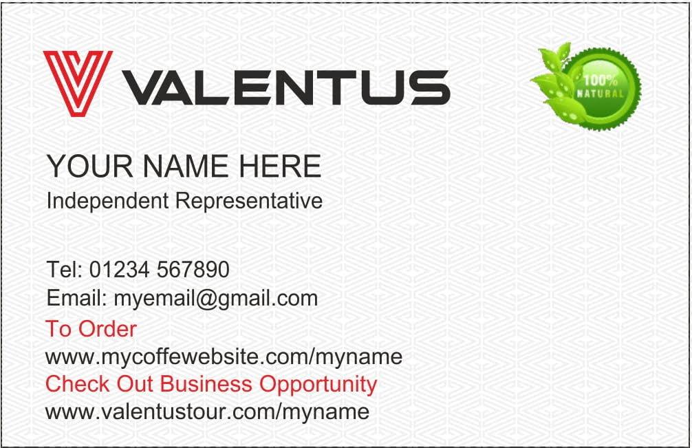 valentus biz card 2018 front