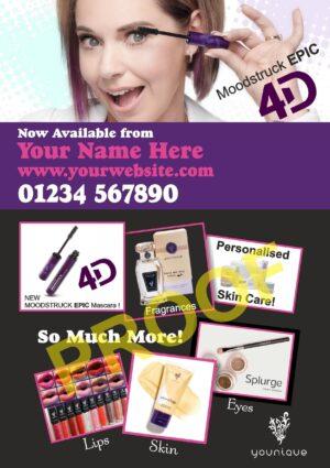 Younique Promotional Flyer - Moodstruck EPIC 4D