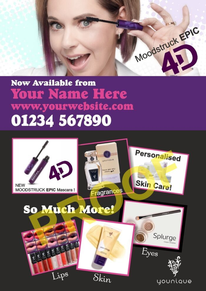 Younique Promotional Flyer - Moodstruck EPIC 4D