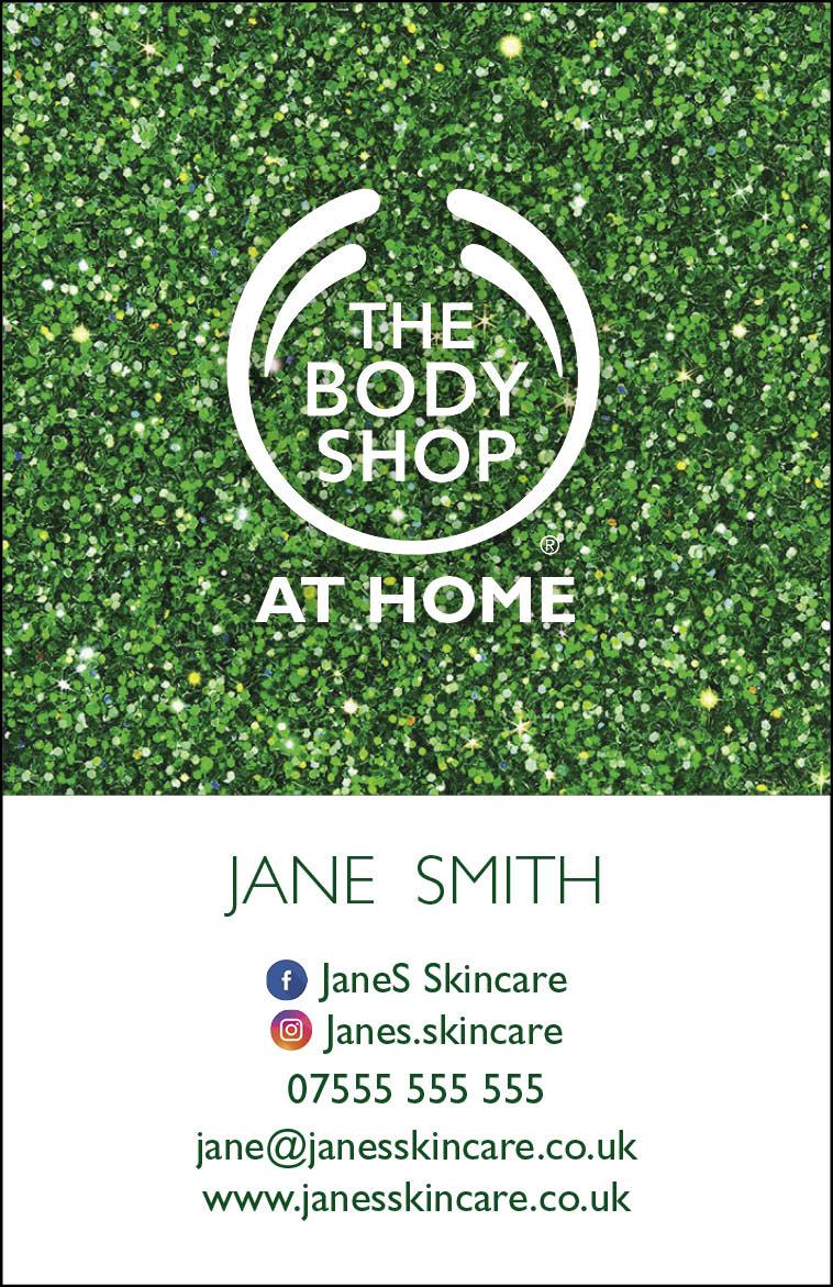 Body Shop Glitter Bus Card portrait