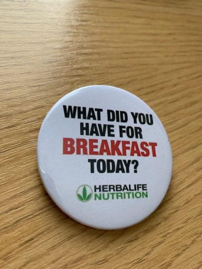 Herbalife Badges Breakfast? X 10 badges
