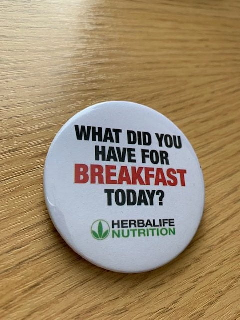 Herbalife Badge Breakfast