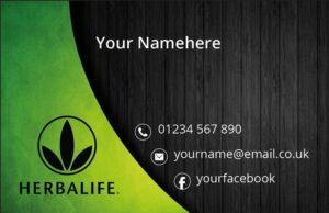 Herbalife Business Cards - Dark Background