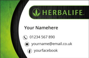 Herbalife Business Cards - Light Background