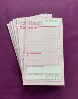 Personal Daily Planner Motivational Multi Action List Pad 30pages