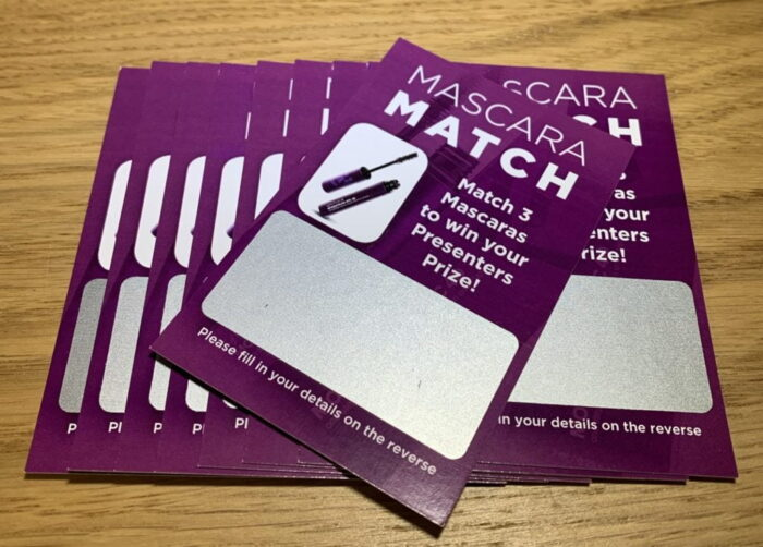 12 Scratch Cards SET (2Winners + 10 losers) party ice-breaker personalised to your organisation. - please ask