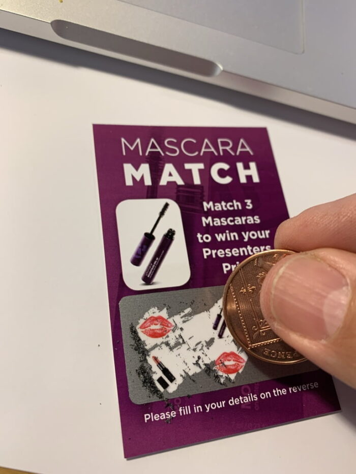 Scratch Cards (Loser) party ice-breaker personalised to your organisation. - please ask