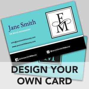 FM World business card online design
