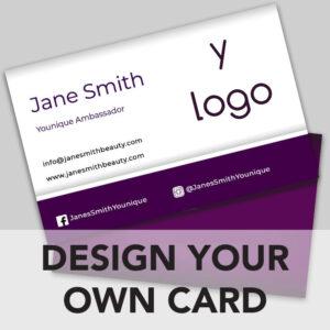 Younique business card online design
