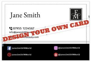FM World business card online design BLACK1