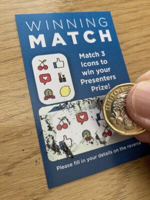 Scratch Cards (Loser) party ice-breaker.