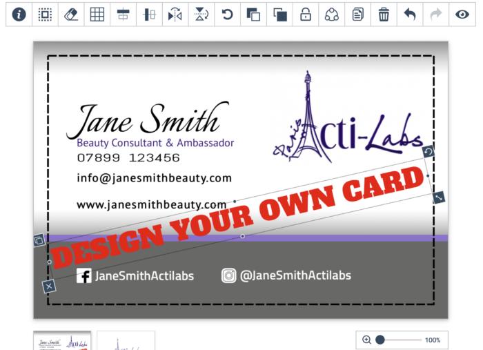 ActiLabs card custom