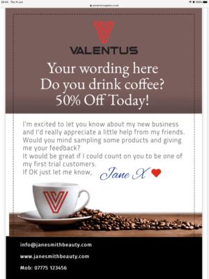 Valentus A5 Leaflet personalised