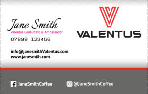 Valentus Business card online design BLACK1