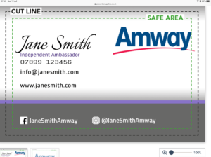 Amway Business card online design £6.99