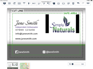 Simply Naturals Business card online design £6.95