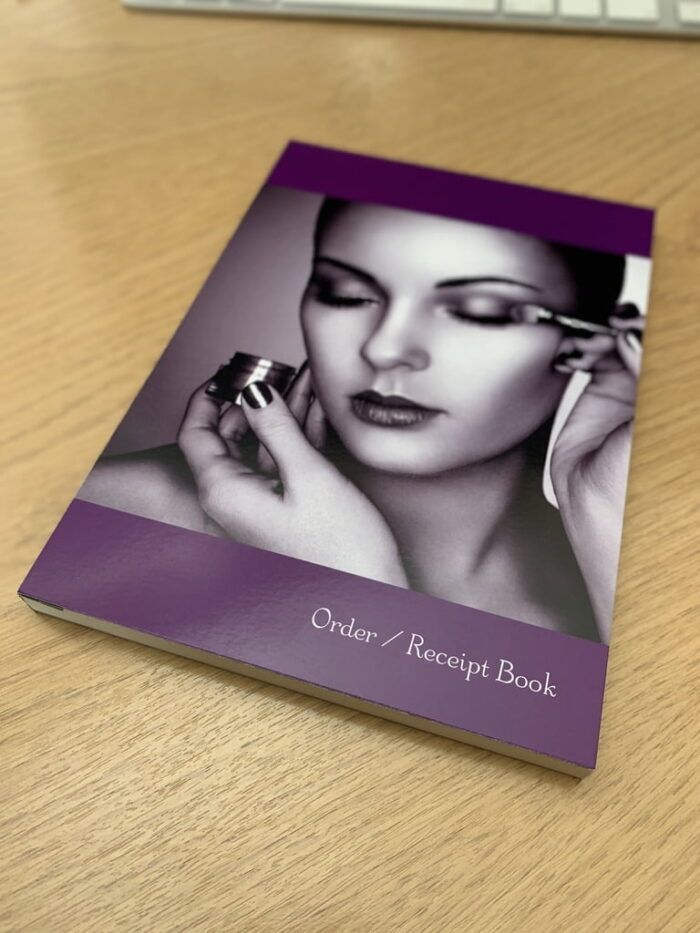 A5 Order Receipt Books 50 DUPLICATE 2 part sets in one Order Book.