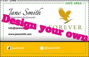 Forever Living Business card online design £6.95