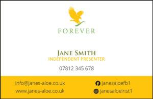 Forever Living Orange Back Cards From £7.95