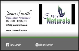 Simply Naturals Business Cards from £7.95