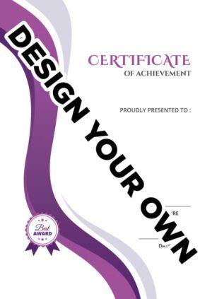 A4 portrait Certificates