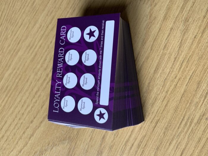 Loyalty Cards (50 cards + 350 'Heart' Stickers)